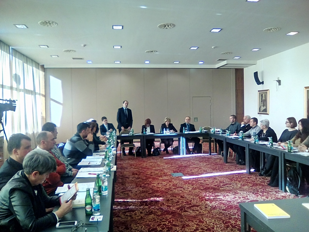Presentation of the draft Strategy for the development of the system of legal aid in the Sarajevo Canton for the period 2016-2018.