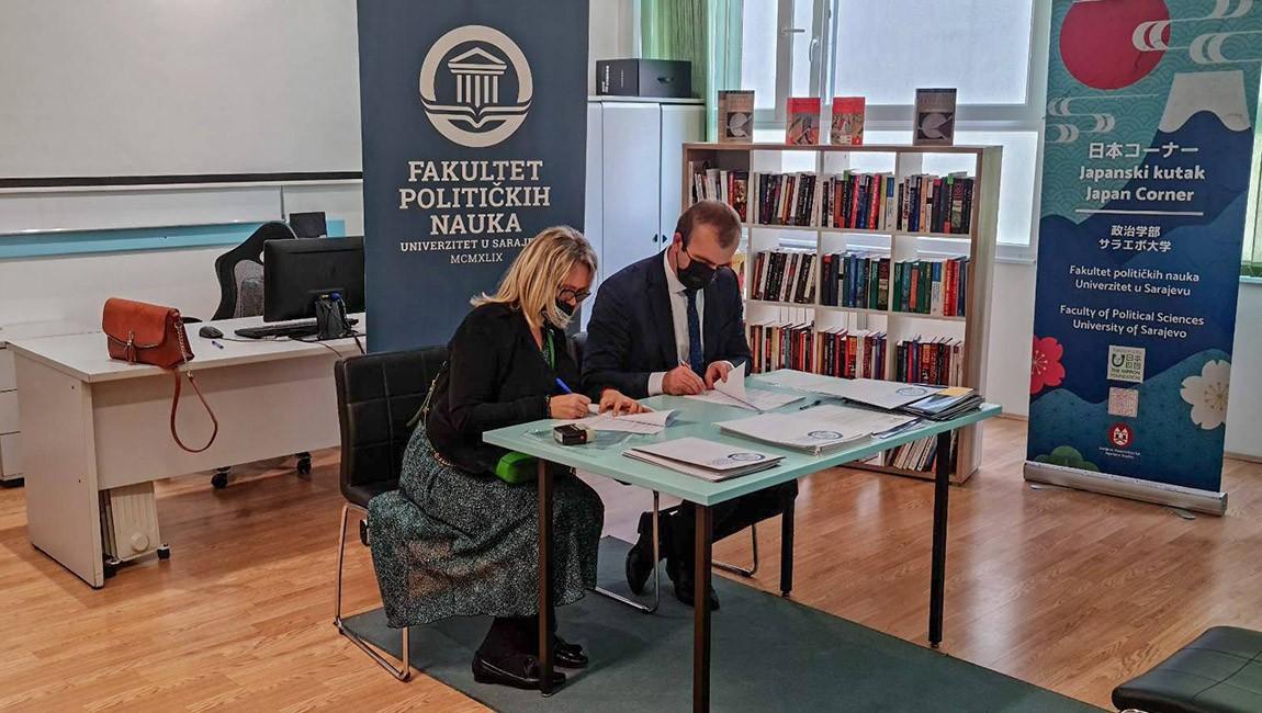 Potpisan sporazum o saradnji sa Fakultetom političkih nauka Univerziteta u Sarajevu