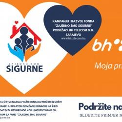"""Kompanija BH Telecom podržala razvoj Fonda """"ZAJEDNO SMO SIGURNE"""""""
